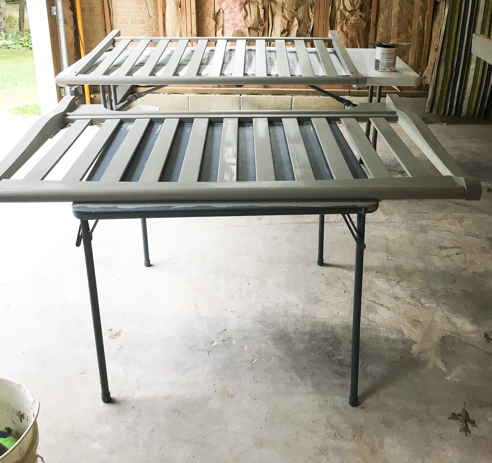 Rustoleum Paint Review- Set Up www.graceinmyspace.com