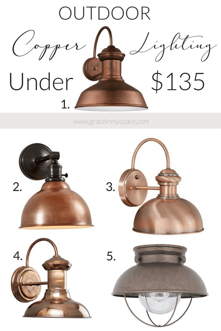 Do you love how copper has infiltrated the design world? Copper is so warm and adds a lovely farmhouse style to your home. I've rounded up five outdoor copper lights for you, along with a special surprise!