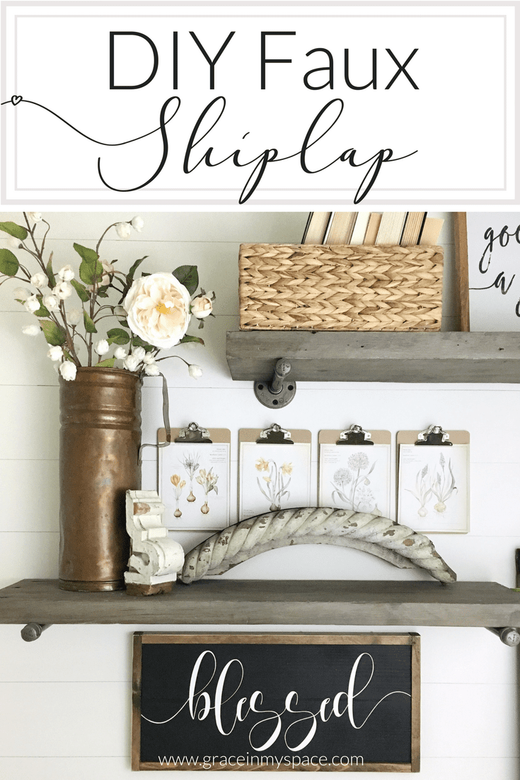 If you're looking for a way to add shiplap to your home then look no further than this DIY shiplap tutorial! This faux DIY shiplap will cost you no more than a gallon of paint and an afternoon. Skill Level: Easy/Beginner