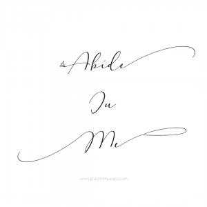 Abide In Me Printable