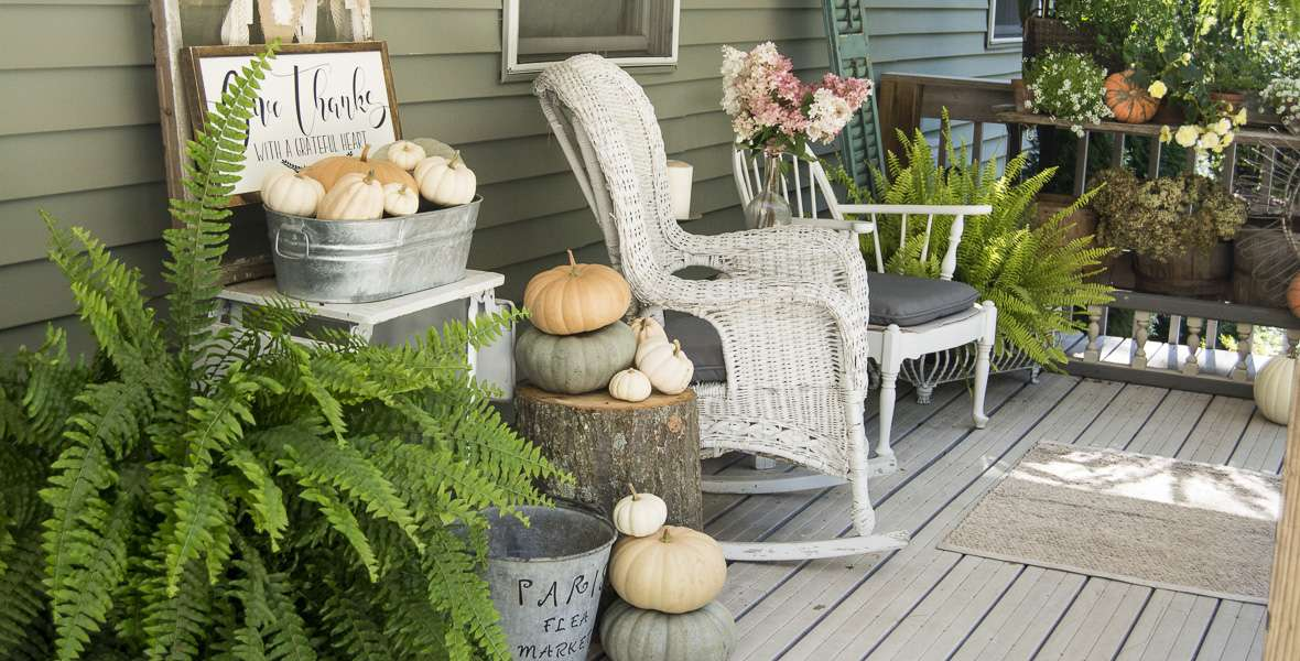 Fall Front Porch: Let's Sit Awhile