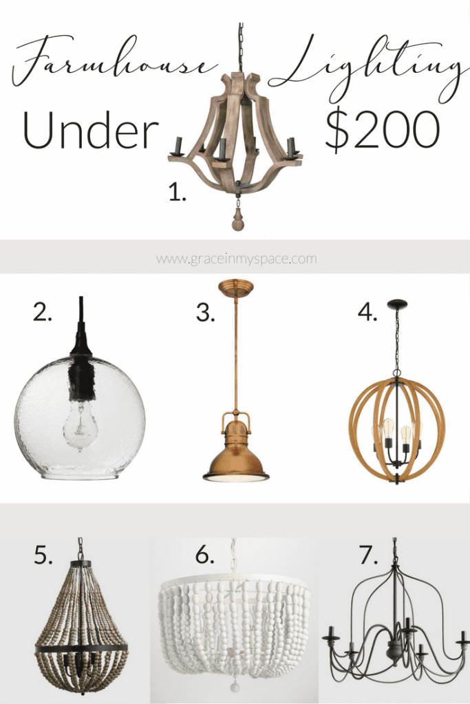 Shopping for a modern farmhouse chandelier? I've rounded up 7 chandeliers under $200 for you.
