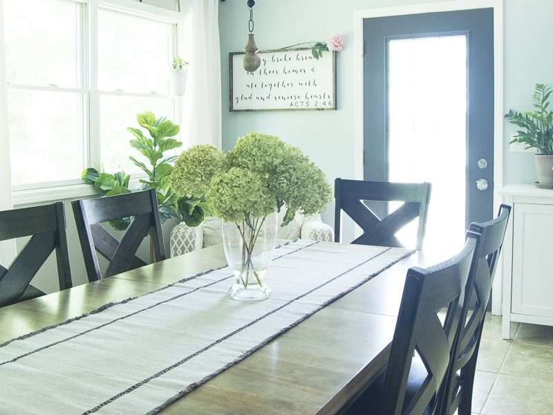 Dining Room Table Reveal