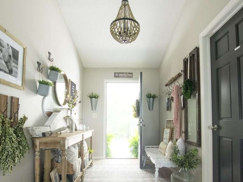 Modern Farmhouse Chandelier Swap