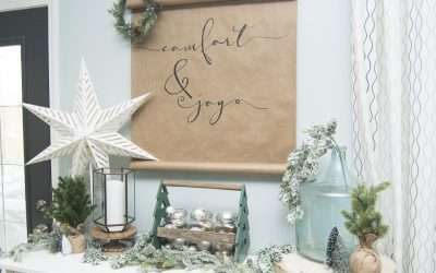 DIY Christmas Scroll | Simple and Affordable Art