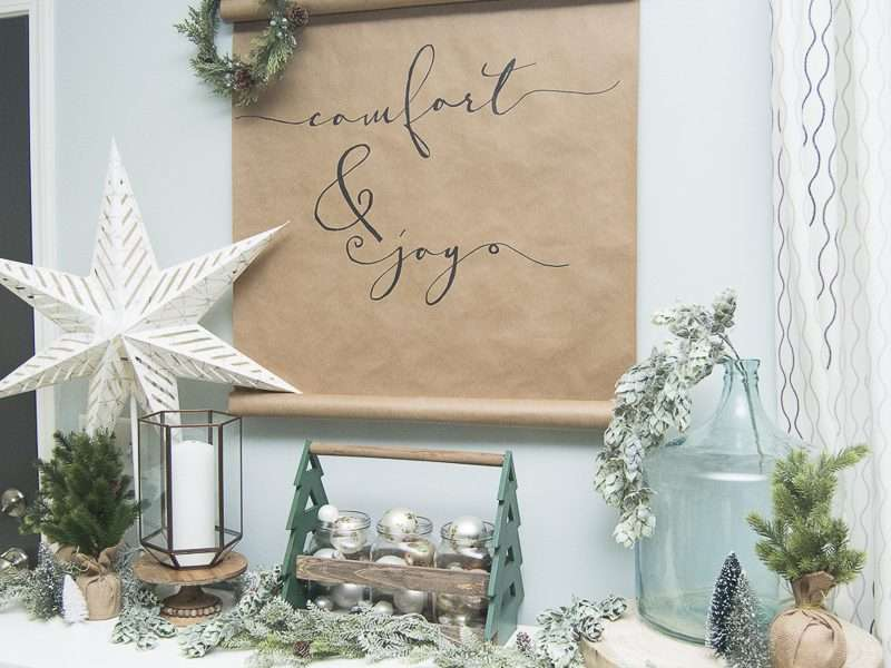 DIY Christmas Scroll   Simple and Affordable Art