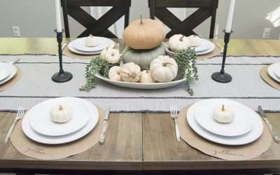 DIY Project: Thanksgiving Chargers for Less Than $4