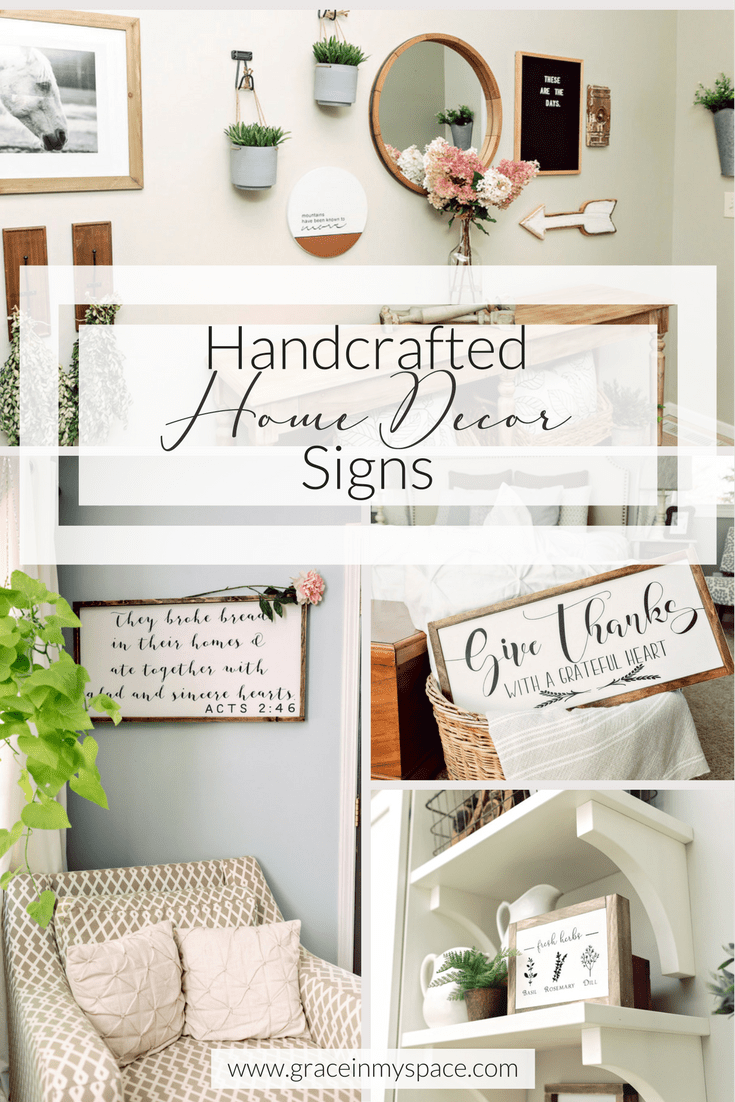 Home Decor Sign Round Up Top Sources For Handmade Signs Grace In