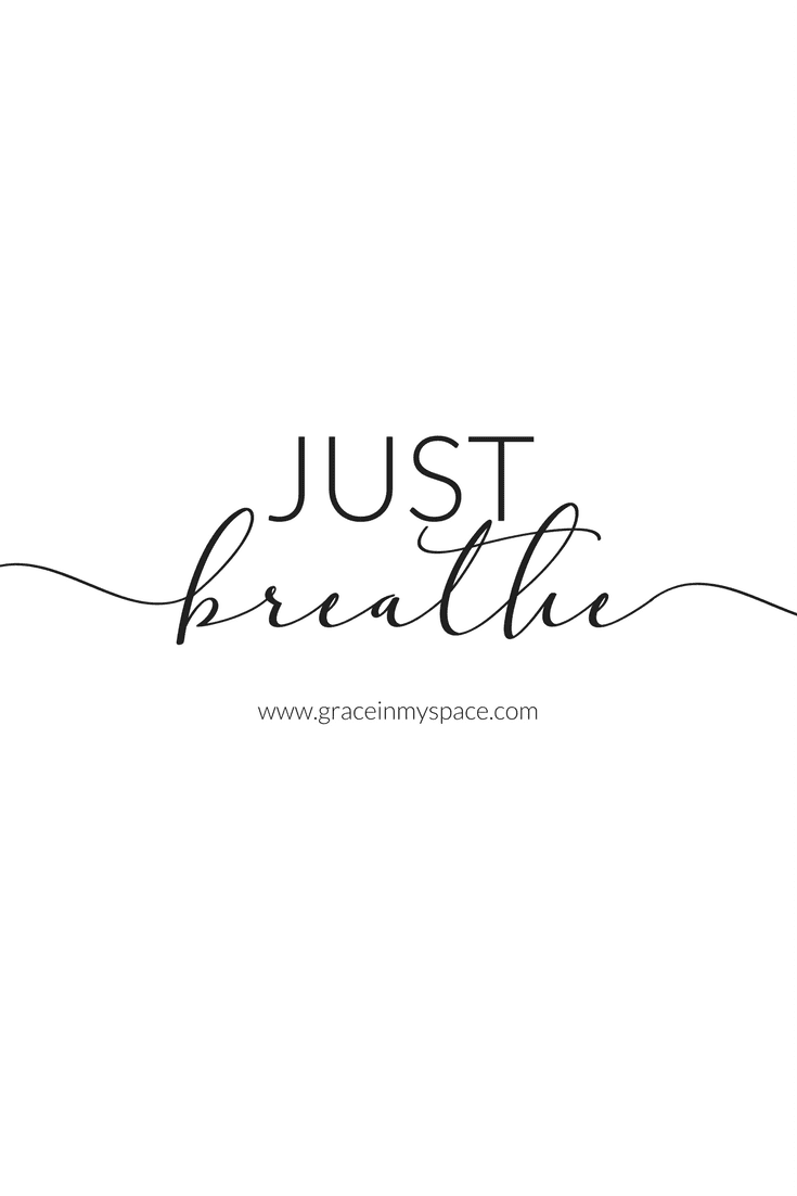 Do you find yourself constantly spinning over a stressful situation? Today I want to talk about taking a step back and allowing yourself to Just Breathe.