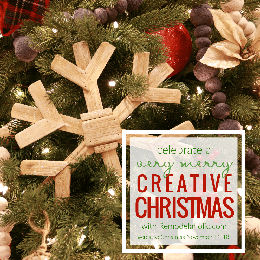 Who's looking for simple Christmas DIY projects? The #CreativeChristmas series on Remodelaholic, where there will be so many project tutorials and ideas, plus the week-long link party for any and all Christmas projects has begun!
