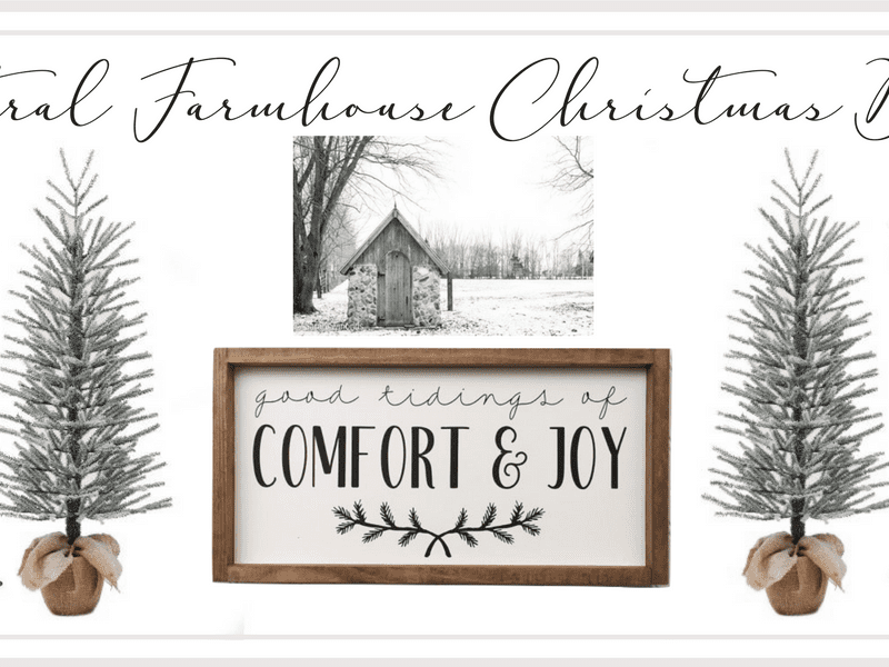 Neutral Farmhouse Christmas Decor Under $35