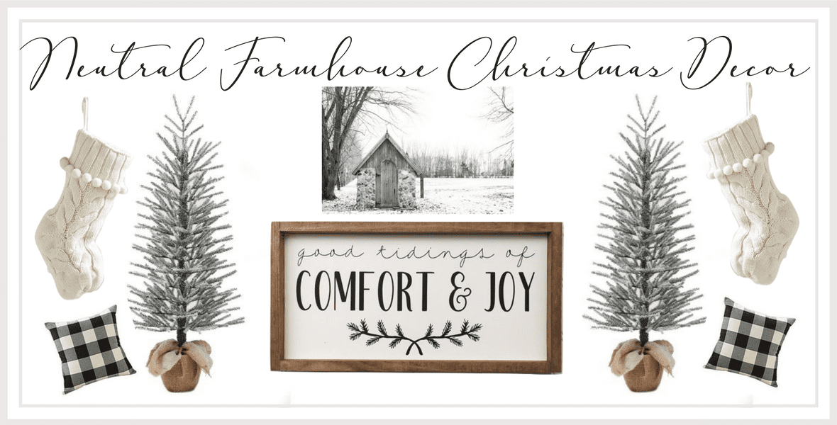 Neutral Farmhouse Christmas Decor Under 35 Grace In My Space