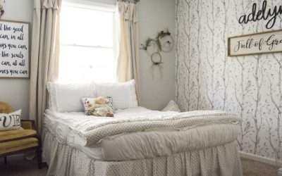 Girl's Bedroom Decor | A Simple and Sweet Makeover