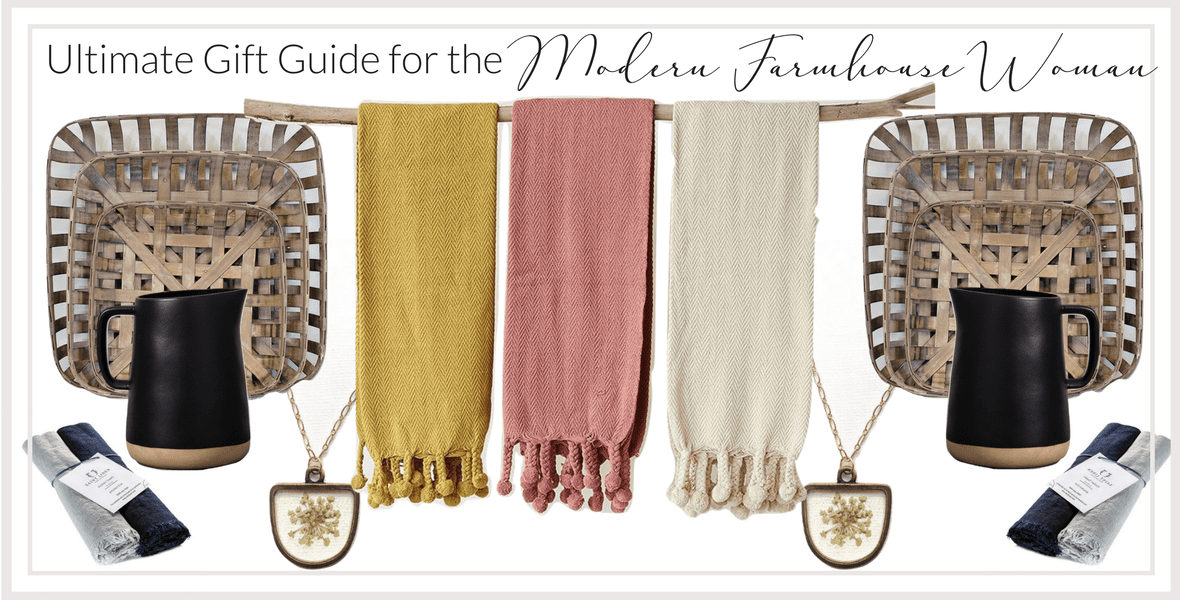 Looking for a gift for today's modern farmhouse woman? I've rounded up a modern farmhouse gift guide with ideas that are perfect for the woman in your life.