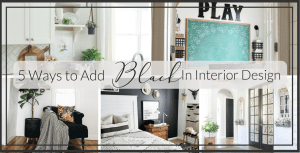 5 Ways to Incorporate Black in Interior Design