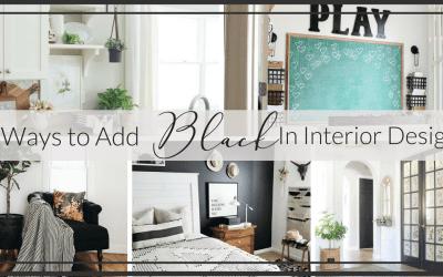 5 Ways to Incorporate Black in Interior Design