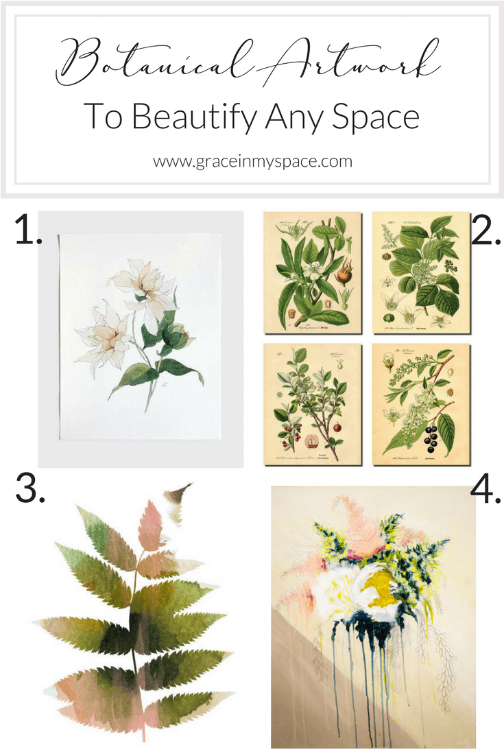 Botanical Artwork to Beautify Any Space and Add a Touch of Spring to Your Kitchen Decor | www.graceinmyspace.com
