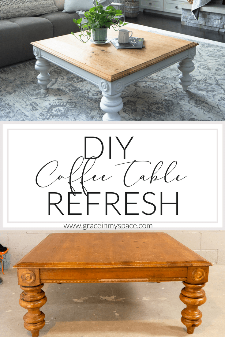 If you're looking for an easy and inexpensive way to transform a thrifted coffee table then this is the post for you! I've taken a thrifted coffee table and made it the modern farmhouse table of my dreams with this DIY coffee table transformation.