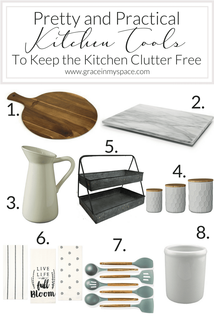 Pretty and Practical Kitchen Tools to Keep the Kitchen Clutter Free in Your Spring Kitchen Decor | www.graceinmyspace.com