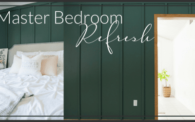 Modern Farmhouse Bedroom Accent Wall | Master Bedroom Makeover
