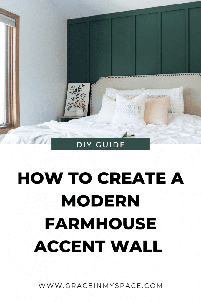 Modern Farmhouse Bedroom Green Accent Wall