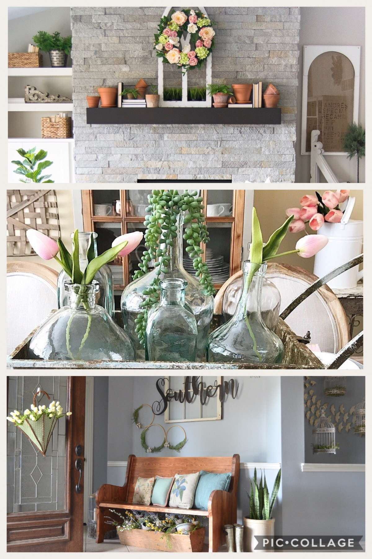 Are you looking for ideas for spring home decor? In my 2018 spring home tour I have some simple ways to incorporate natural elements, spring colors, and simple accents to get your home ready for spring. Join me on this spring home tour blog hop!