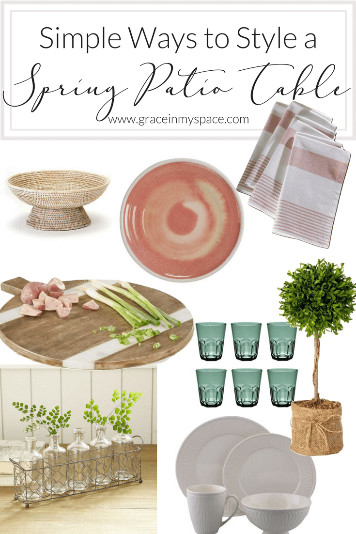 Are you ready for spring? Today I have created a beautiful collection of spring patio decor inspiration for you as we enter this next season! It's a garden party dining extravaganza!
