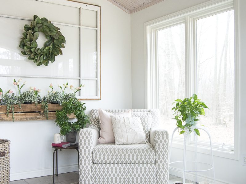 Indoor Faux Window Box Decor