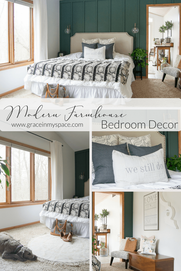 Modern Farmhouse Bedroom Decor: Finishing Touches | Grace In My Space