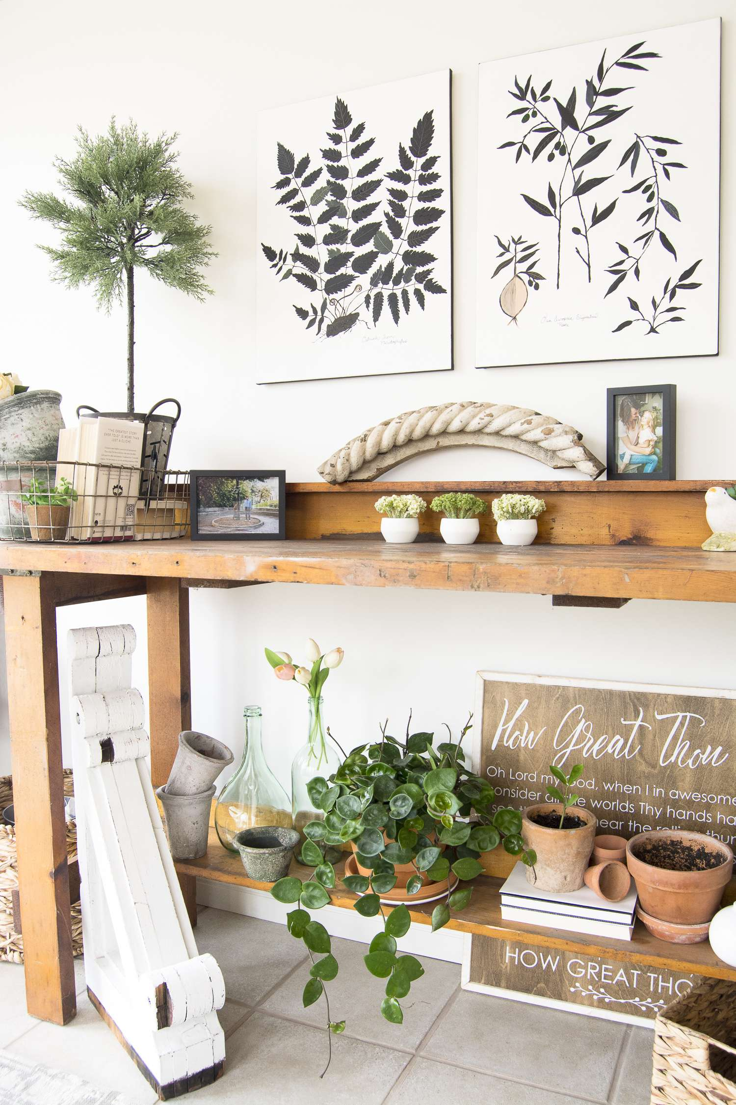 Have you ever needed to carve an office into another space? Today I'm sharing how I made a sunroom office into a dual purpose paradise. A little sun and nature mixed with a little work and modern convenience. Head to the blog for all the details www.graceinmyspace.com.
