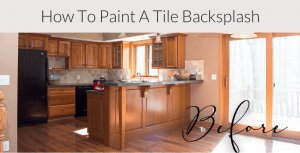 How to Paint a Tile Backsplash: Kitchen Renovation