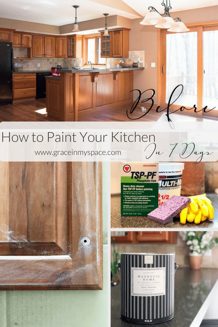 Paint Your Kitchen Cabinets In 7 Days Prep Steps 1 3 Grace