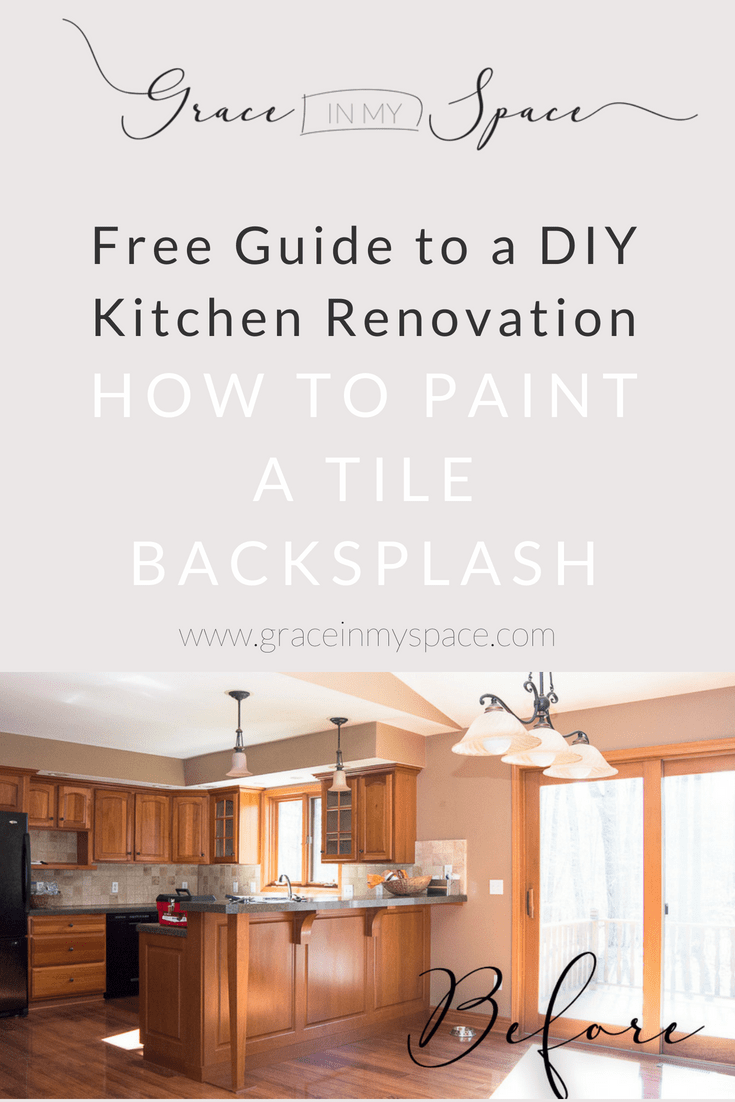How to Paint a Tile Backsplash: Kitchen Renovation | Grace