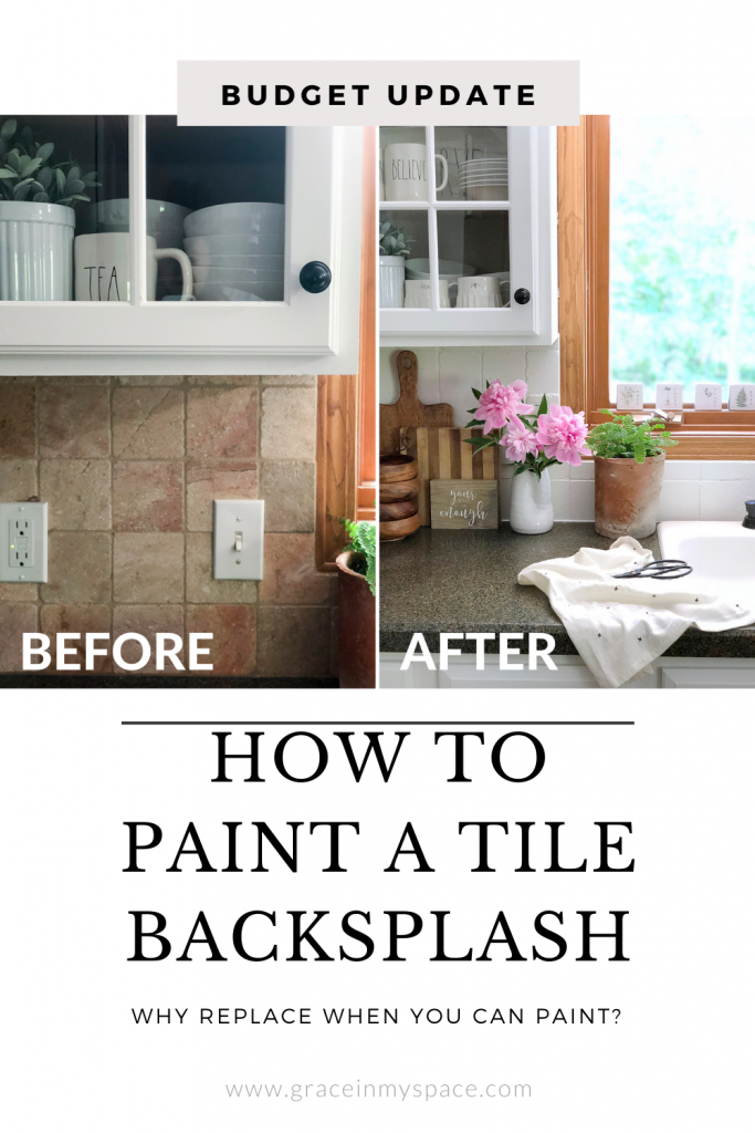 How to Paint a Tile Backsplash. This simple tutorial will transform your outdated tile in one day for a fraction of the cost of new tile.