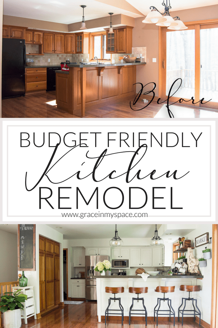 Kitchen Remodel on a Budget | The Reveal | Grace In My Space