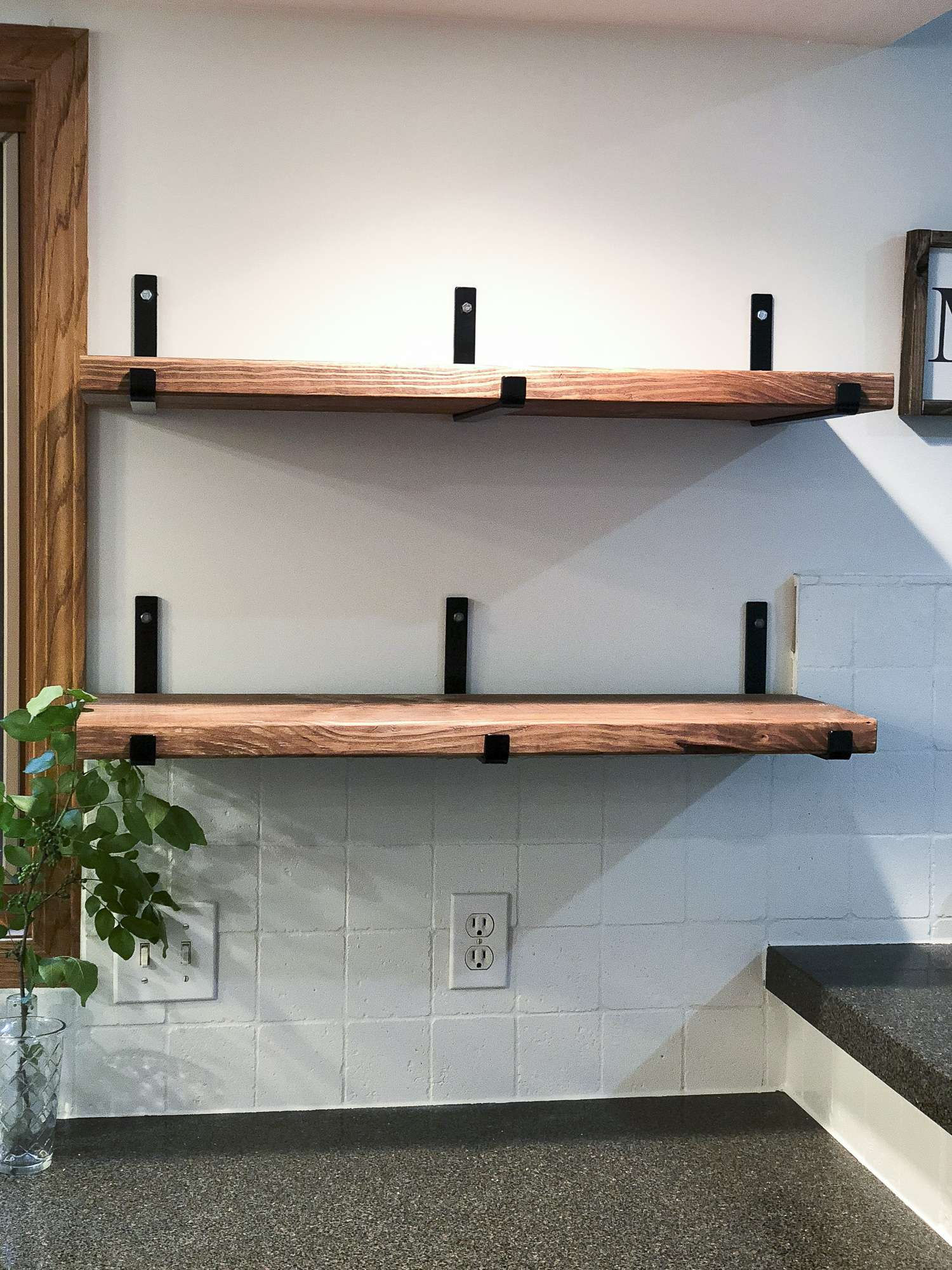 Wall To Wall Shelves simple wall shelves diy - easy craft ideas