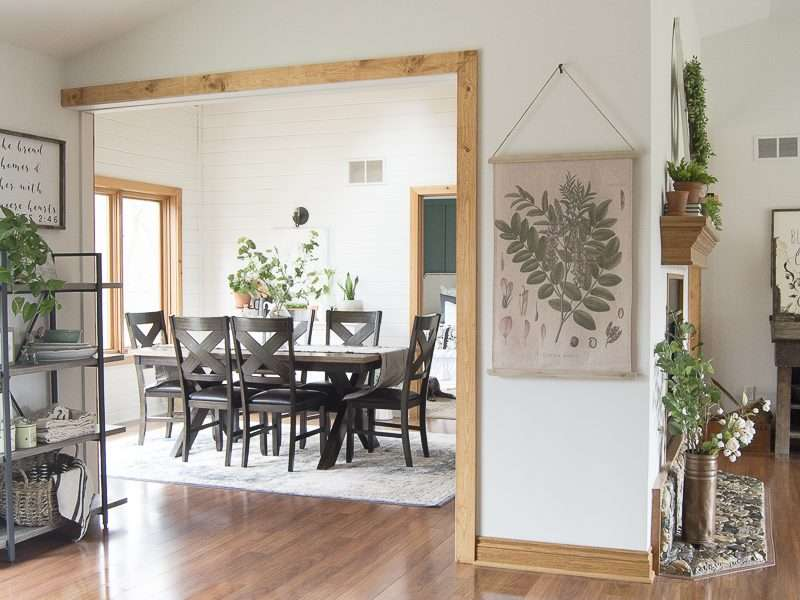 Dining Room Remodel Before and After