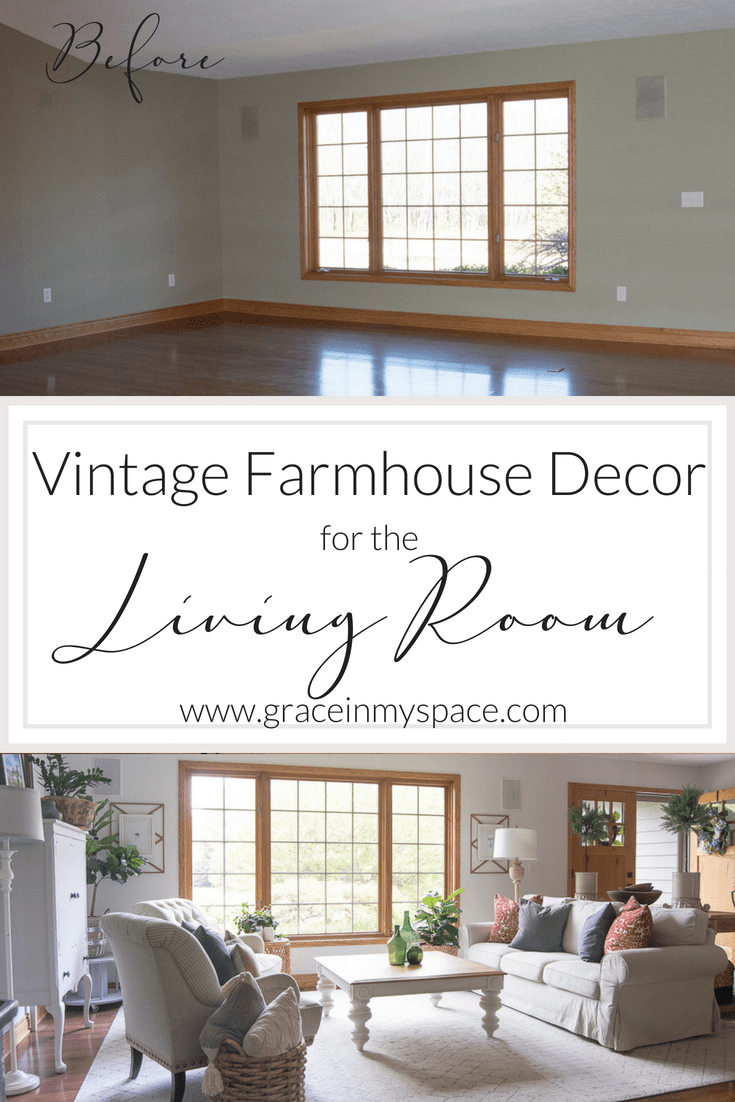 Vintage Farmhouse Decor Living Room Update Grace In My Space