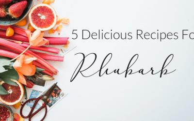 Strawberry Rhubarb Crisp | + 4 Delicious Rhubarb Recipes