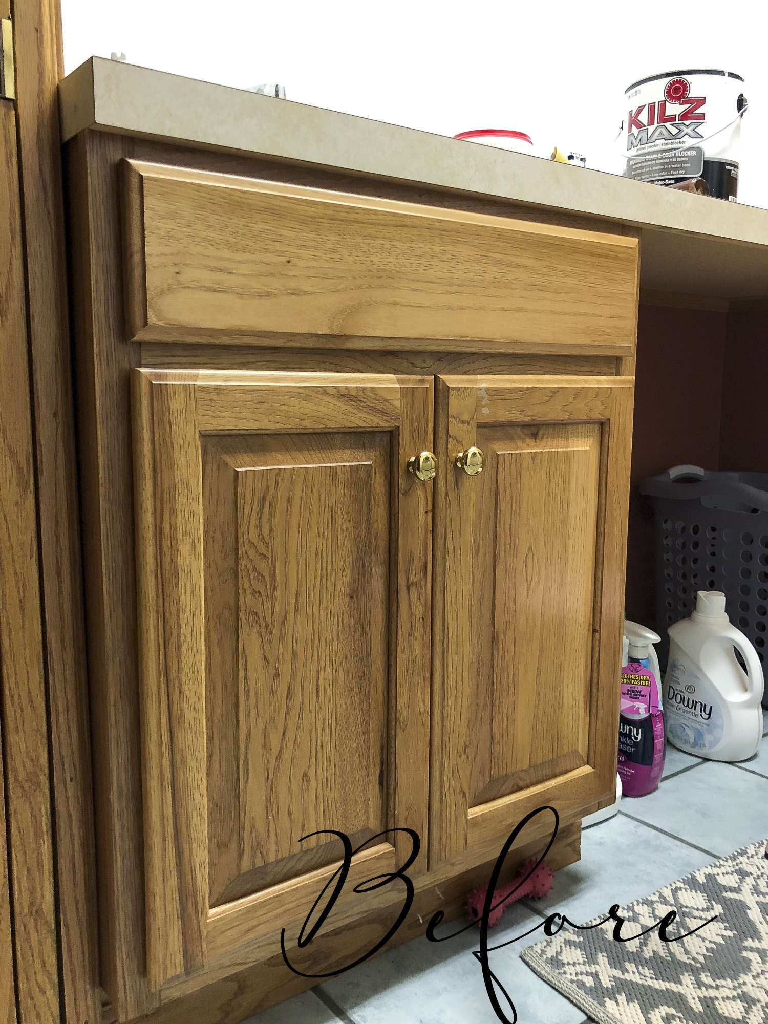 Is your laundry room in need of a facelift? See how I take my laundry room decor and more from dark and dated to beautiful form and function, all for $100!