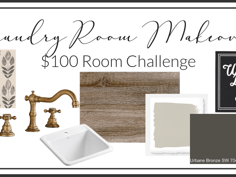 Laundry Room Decor and More | $100 Room Makeover Challenge