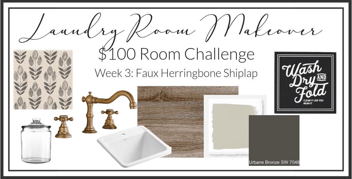 Do you love the look of shiplap but don't want to commit to a large project? Read more for my simple, 1 day DIY shiplap tutorial in a herringbone pattern!