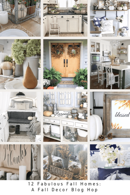 Simple Porch & Entryway Fall Decor with Free Printable! Join me and 11 other fabulous fall homes to be inspired with beautiful and simple fall decor ideas!