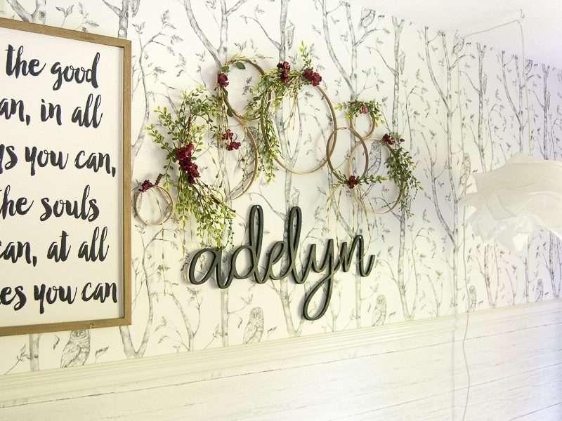 Peel and Stick Wallpaper | Girls Bedroom