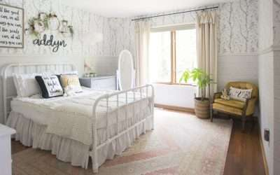 Girls Bedroom Reveal | Creating Structure with Furniture