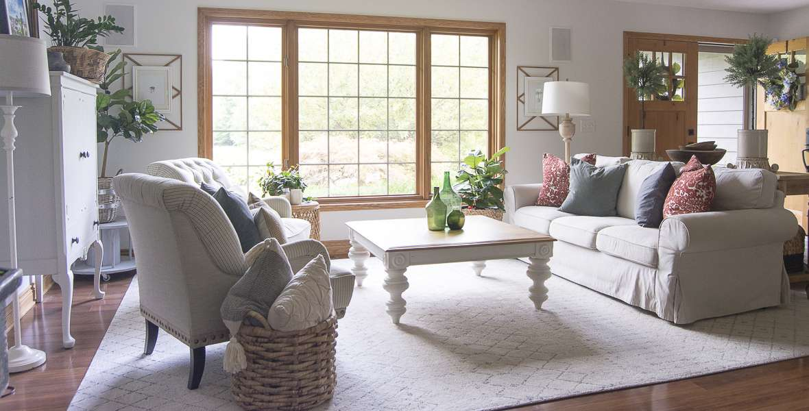 """Do you have stained wood trim? The common question is, """"To paint or not to paint wood trim."""" Click to see what I did with my baseboard trim, and why."""