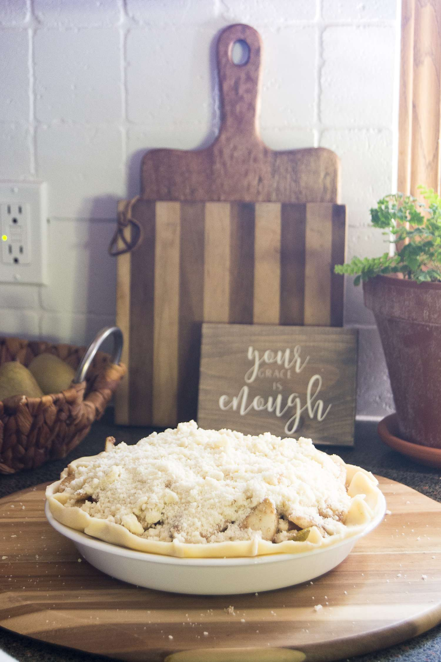 Are you looking for a new twist on traditional fall desserts? Forget the apples and click to get the recipe for delicious and savory crumb topping pear pie.