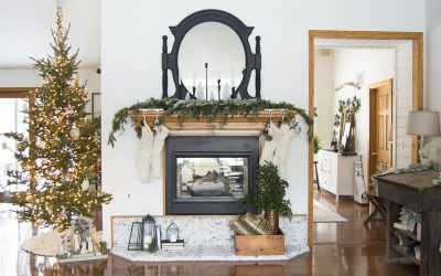 Do you struggle to decorate your mantel for Christmas? Today I'm sharing easy tips for how to decorate your Christmas mantel in 5 easy steps. #christmasmantel #manteldecorations #fromhousetohaven