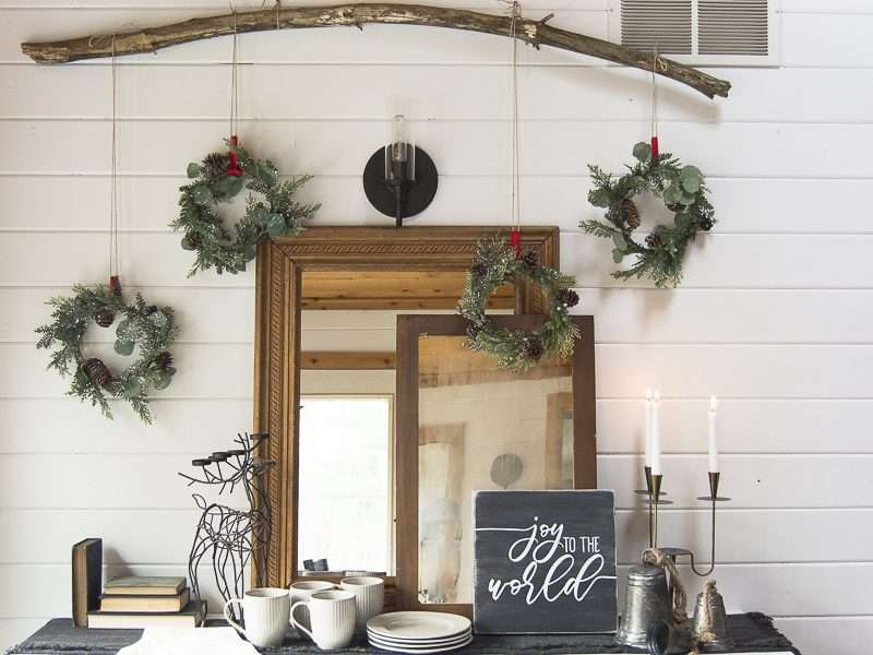 Vintage Christmas Decorations | A DIY Wreath Wall