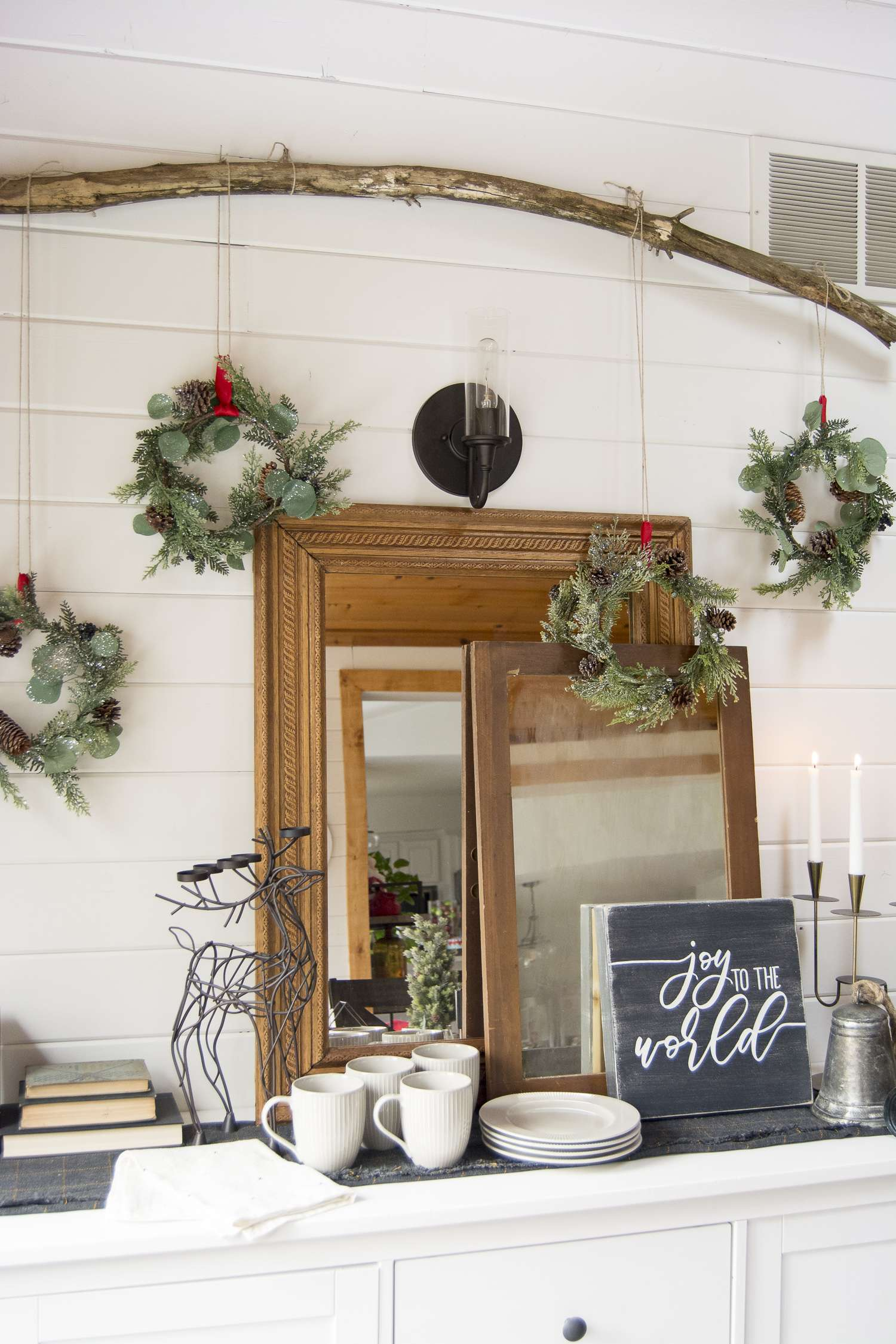 Vintage Christmas decorations are a beautiful addition to your Christmas decor. See how I styled